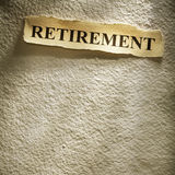 Headline retirement Stock Photography