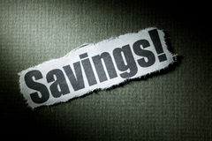 Headline Savings Stock Image