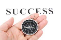 Headline success and Compass Royalty Free Stock Photo