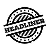 Headliner rubber stamp Royalty Free Stock Images