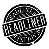 Headliner rubber stamp Royalty Free Stock Image