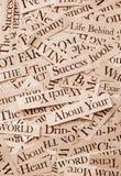 Headlines. Close up of newspaper headlines Stock Images