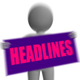 Headlines Sign Character Displays Newspaper Headlines Or Breakin Stock Image