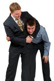 Headlock! royalty free stock photos
