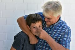 Headlock Royalty Free Stock Photo