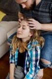 Headmassage im Haus Lizenzfreies Stockbild
