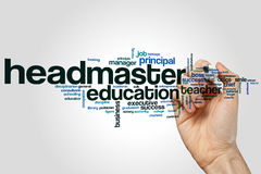 Headmaster word cloud Stock Photography