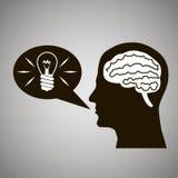Headmind Brain Head Silhouette  Imágenes de archivo libres de regalías