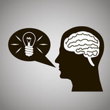 Headmind Brain Head Silhouette  Royalty-vrije Stock Afbeeldingen
