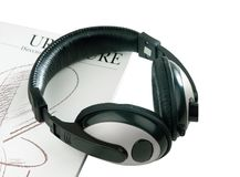 Headphone set isolated  Royalty Free Stock Images
