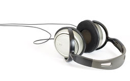 Headphone. Lay on a white background stock photos