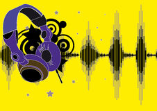Headphone. Flier or poster for your party stock illustration