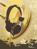 Headphone abstract art royalty free illustration