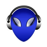Headphone alien sign Stock Image