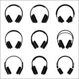 Headphone for audio experience. Audio equipment flat icon Royalty Free Stock Photo