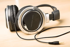 Headphone background Stock Images
