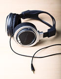 Headphone background Stock Photography