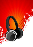 Headphone background Royalty Free Stock Images