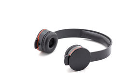 Headphone black color. Stock Images