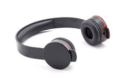 Headphone black color. Royalty Free Stock Image