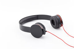 Headphone black color. Stock Photography