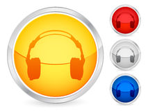 Headphone button Stock Images