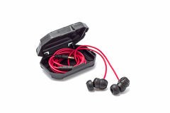 Headphone in the case Royalty Free Stock Photos