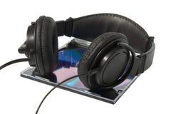 Headphone and cd Stock Photo