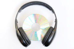 Headphone with CD Royalty Free Stock Photography