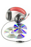 Headphone and cd Royalty Free Stock Images