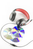 Headphone and cd Stock Images