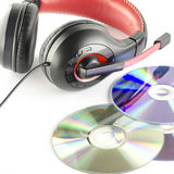 Headphone and cd Royalty Free Stock Photos