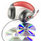 Headphone and cd Royalty Free Stock Photography