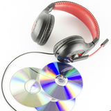 Headphone and cd Royalty Free Stock Photo