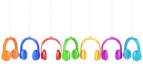 Headphone colors Royalty Free Stock Photos