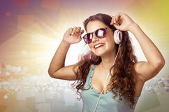 Headphone Dancer Stock Image