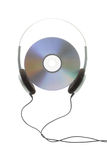 Headphone and digital disc Stock Photography