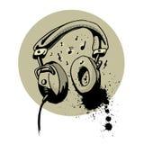 Headphone drawing vector Royalty Free Stock Photo