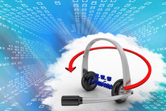 Headphone With E business Domain  Illustration Stock Photo