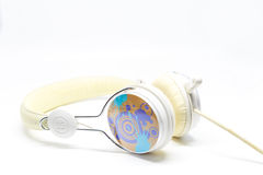 Headphone. For everybody love in music royalty free stock photography