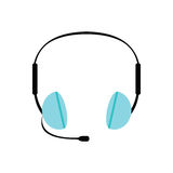 Headphone flat icon Royalty Free Stock Photo