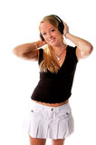 Headphone Girl 1 Royalty Free Stock Photography