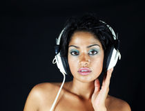 Headphone girl Royalty Free Stock Photography