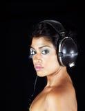 Headphone girl royalty free stock photos