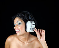 Headphone girl Royalty Free Stock Images