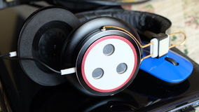 Headphone. Hearing aids that are often used by announcers, pilot, deejay and others Stock Photos