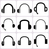 Headphone Icons Set Stock Image
