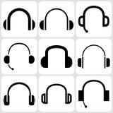 Headphone Icons Set Stock Image
