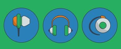 Headphone icons Royalty Free Stock Photo