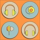 Headphone icons Stock Image